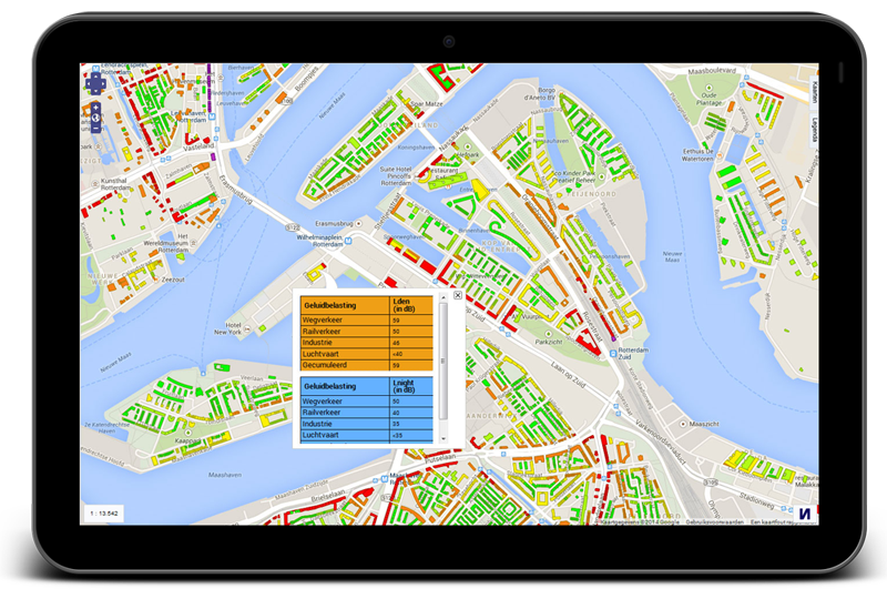 webgis publisher op tablet