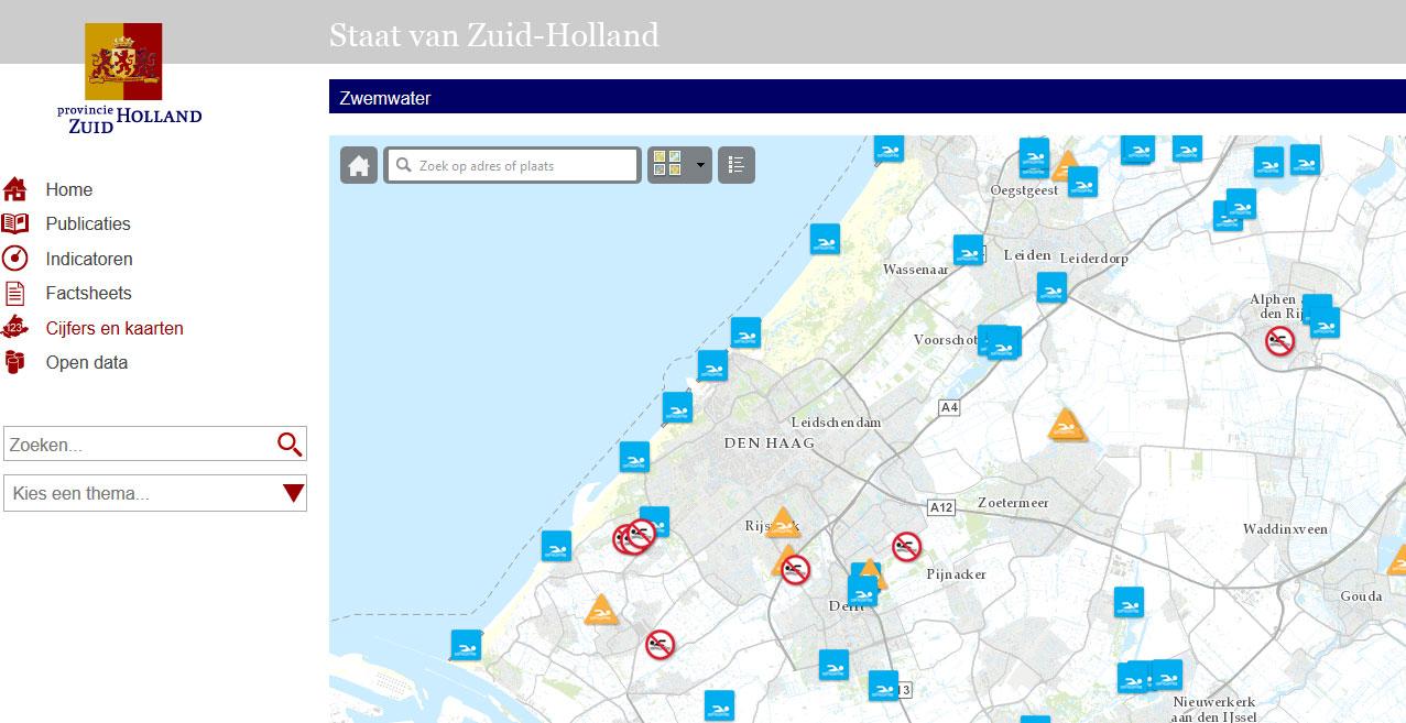 Staat van Zuid-Holland, kaart in ArcGIS online